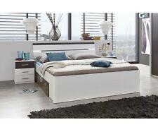 Doppelbett Bettanlage 2 Nakos Schubladen Mars 180 x 200 cm Weiss / anthrazit
