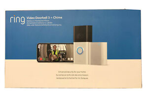 Ring Video Doorbell 3 with Chime Bundle Brand New&sealed
