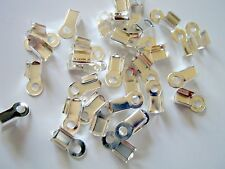 100 Silver Plated Crimp Beads-9x4mm-Jewelry Making Supplies-Jewelry Findings