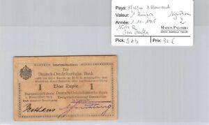 Deutsch-Ostafrikanische Afrique Allemande 1 Roupie 1.11.1915 n° 3887  Pick 9Ab