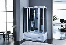 1350x800mm Modern Jacuzzi Steam Shower Room Cubicle Enclosure Cabin Bath