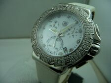 TAG HEUER FORMULA 1 LADY STEEL DIAMONDS CHRONO DIVER 200 MT.S NEW BOX & PAPERS