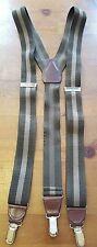 Pelican USA, Khaki Green/Beige, Elastic, Ribbed Suspenders/Braces (One Size)