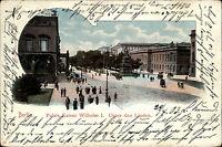 Berlin Palais Kaiser Wilhelm Unter den Linden Litho-AK 1903 nach Iserlohn gel.