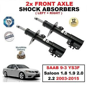 2x FRONT SHOCK ABSORBERS SET for SAAB 9-3 YS3F Berlina 1.8 1.9 2.0 2.2 2003-2015