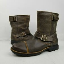 UGG Rockville II Brown Leather Distressed Fur Lined Pull On Boots US 13 3040