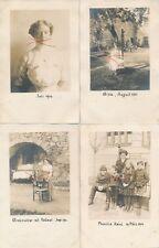 Nr.19420 4x Privat Foto PK schöne Frauen + Männer +  Kind   um 1914