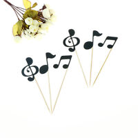 6pcs musical note cupcake toppers birthday cake topper music party decoration JR