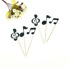6pcs musical note cupcake toppers birthday cake topper music party decoration LY