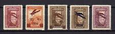 A7554) Turkey 1934 Scott #C1/C5 MNH 1st Air Mail Set