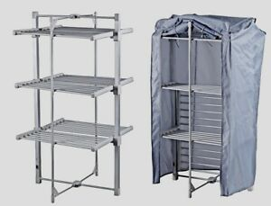 Heated Tower Clothes Dryer & Cover Economic Washing Laundry Folding Airer