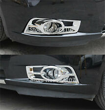 FIT FOR 2008 - 2011 CHEVY CRUZE FRONT BUMPER CHROME FOG LIGHT TRIM LAMP COVER