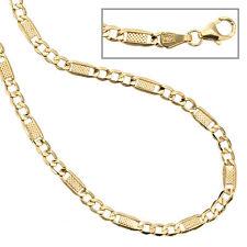 Unisex Halskette Kette 333 Gold Gelbgold 45 cm Goldkette Karabiner