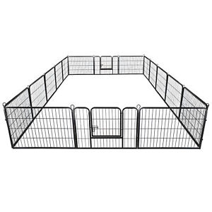 Pataku Heavy Duty Pet Dog Playpen Puppy Cat Exercise Fence Barrier Metal Playpen Kennel,8 Panels 40 inches Height