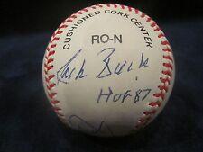 Jack & Joe Buck Autographed ONL (Coleman) Baseball w/HOF Inscription - JSA Cert