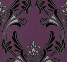 Tapete Barock lila schwarz Tapeten livingwalls Atlanta 95703-5 957035 (2,57€/1qm