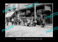 OLD POSTCARD SIZE PHOTO BAR HARBOR MAINE, VIEW OF THE FLORENCE HOTEL c1908