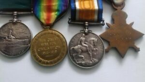 WW1 LONG SERVICE AND GOOD CONDUCT MEDALS NAVY