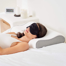 Luxury Memory Foam Pillow And Silk Eye Mask   Orthopedic Support For Neck Should