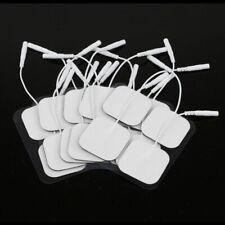 20 PCS Pads de Remplacement Pour Masseur Unités Electrode 4x4cm Blanc Tissu FR