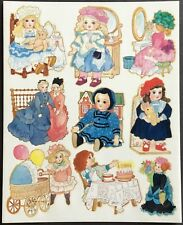 Vintage Stickers - 1 Sheet - American Greetings - Dolls - Mint!!