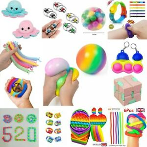 Sensory Stress Reliever Ball Hand Toy Autism Anxiety Fidget Kids Adults UK