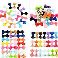20Pcs Hair Bows Band Boutique Alligator Clip Grosgrain Ribbon Girls Babys Kids