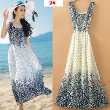 Sexy Women Evening Party Dress Chiffon Dress Summer Beach Dresses -5