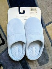 New Womens CHARTER CLUB Scuffs Slippers Soft Warm Cozy light Blue Size 5-6 Small