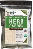 12 Herb Variety Seed Pack Kit Heirloom Survival Garden Organic Food Culinary Set