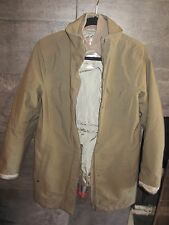 Prada warm long olive jacket size 44 madden Italy