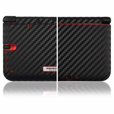 Skinomi Black Carbon Fiber Skin+Screen Protector for Nintendo 3DS XL (2012)