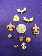 #2 of 4, LOT OF VTG BOY SCOUT PINS & WEBSTER COUNCIL ENAMEL CHARM, BE PREPARED++