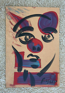 Peter Robert Keil German Painting Masonite 24@16 Abstract