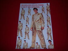 licensed ELVIS PRESLEY poster-50 MILLION FANS CAN'T BE WRONG-rockabilly cat-NEW