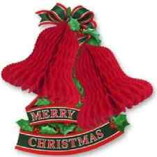 Tissue Bells Holly Christmas Decoration