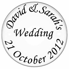 70 Personalised CLEAR  Wedding Invitation Seals