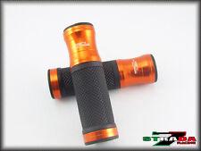 Honda CBR600RR and CBR1000RR Strada 7 Racing CNC Aluminum Grips Orange