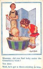 ENGLAND COMIC BABY DONALD McGILL ARTIST SIGNED POSTCARD (c. 1910)