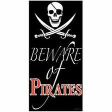 Beware Of Pirate Door Cover Birthday Party Wall Decoration