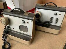 OLD RARE lot de 2  AVS  Radio SHURE Microphone CB-43 & CB-45 Broadcast