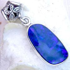 OPAL Dublette BLAU 28mm Anhänger SILBER 925 für Kette silver pendant opal