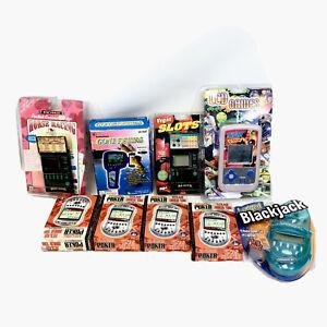VINTAGE Lot Handheld Games, Baseball Poker Wcw Resellers Priority Box 7 FULL