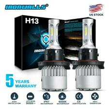H13 9008 1900W 285000LM CREE LED Headlight Kit High Low Beam Bulb White 6000K