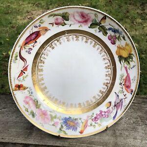 Fine Derby c1825 Serving Dish, Fruit, Flowers & Butterflies English Porcelain
