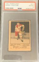 1951 1952 PARKHURST Gerry Couture PSA 2 Good #17 HOCKEY GD HABS Canadiens