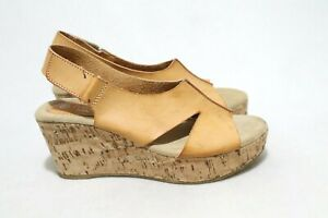 New Look Size 10 Womens Vintage Open Toe Cork Platform Wedge