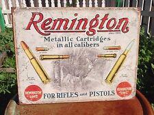 REMINGTON METALLIC CARTRIDGE Gun Classic Tin Sign Wall Bar Decor Garage Classic