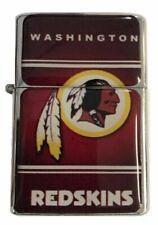 Washington Redskins Flip Top Lighter Chrome Refillable Cigar Cigarette w insert