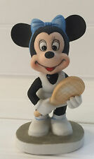Walt Disney Productions Vintage Minnie Mouse Tennis Bisque Porcelain 4 inches